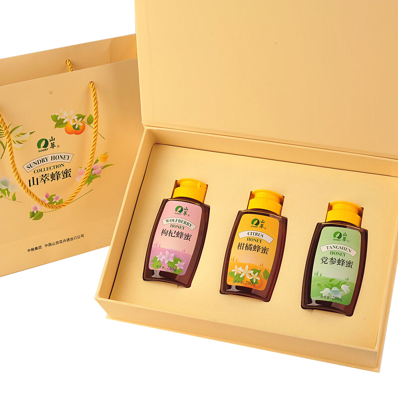 【中粮精选】吉祥三宝蜂蜜礼盒840g 6型