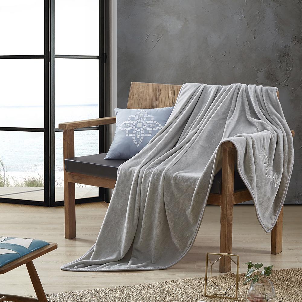 【德世朗】DRON-TZ3202品卓素色毛毯