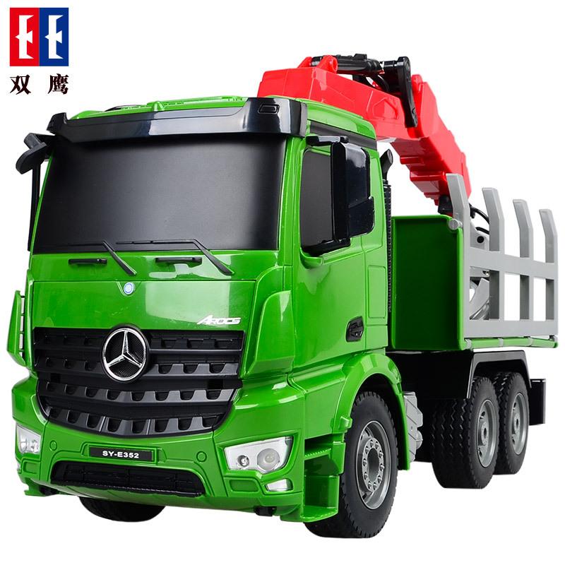 【儿童玩具】玩具车可遥控益智DIY玩具运输卡车SY-E352-001绿黑