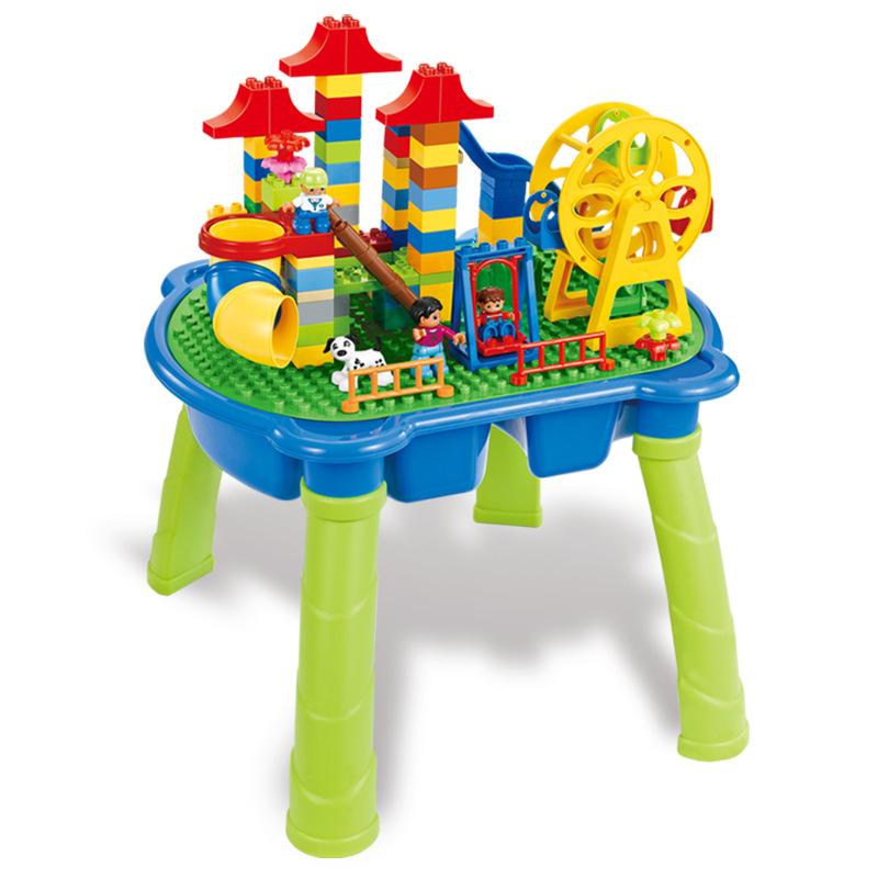 【儿童玩具】益智玩具积木桌动物园款培养儿童学习能力ALD-GM-5021
