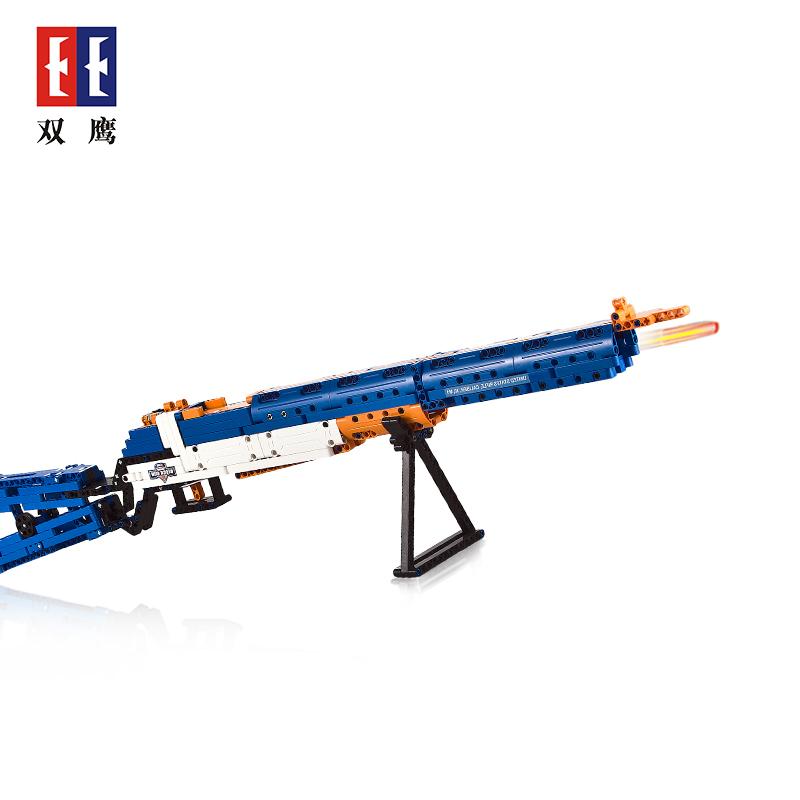 【儿童玩具】男孩玩具积木仿真步枪益智DIY   SY-C81002蓝色