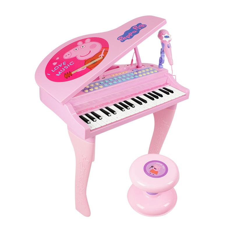 【儿童玩具】初学者女孩小猪佩奇电子琴多功能早教玩具BFL-99022