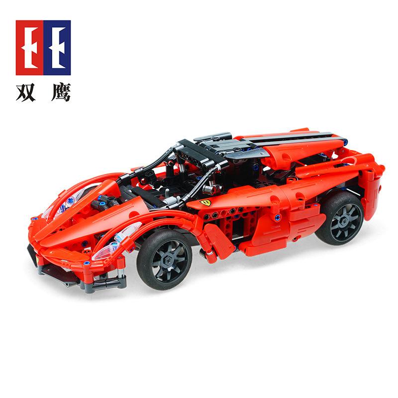 【儿童玩具】益智男孩红色赛车可遥控拼装玩具SY-C51009红色