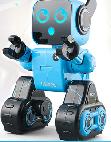 【儿童玩具】伴儿童早教机器人电动可声控APP控制适合3岁儿童以上JJRC-K10双电版(可APP控制)蓝色