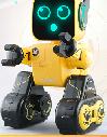 【儿童玩具】黄色机器人早教儿童玩具适合3岁儿童以上JJRC-K10双电版(可APP控制)