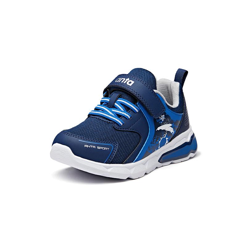 安踏童鞋 小童鞋 冬季新款男女同款魔术贴闪灯鞋运动跑鞋33849904-2