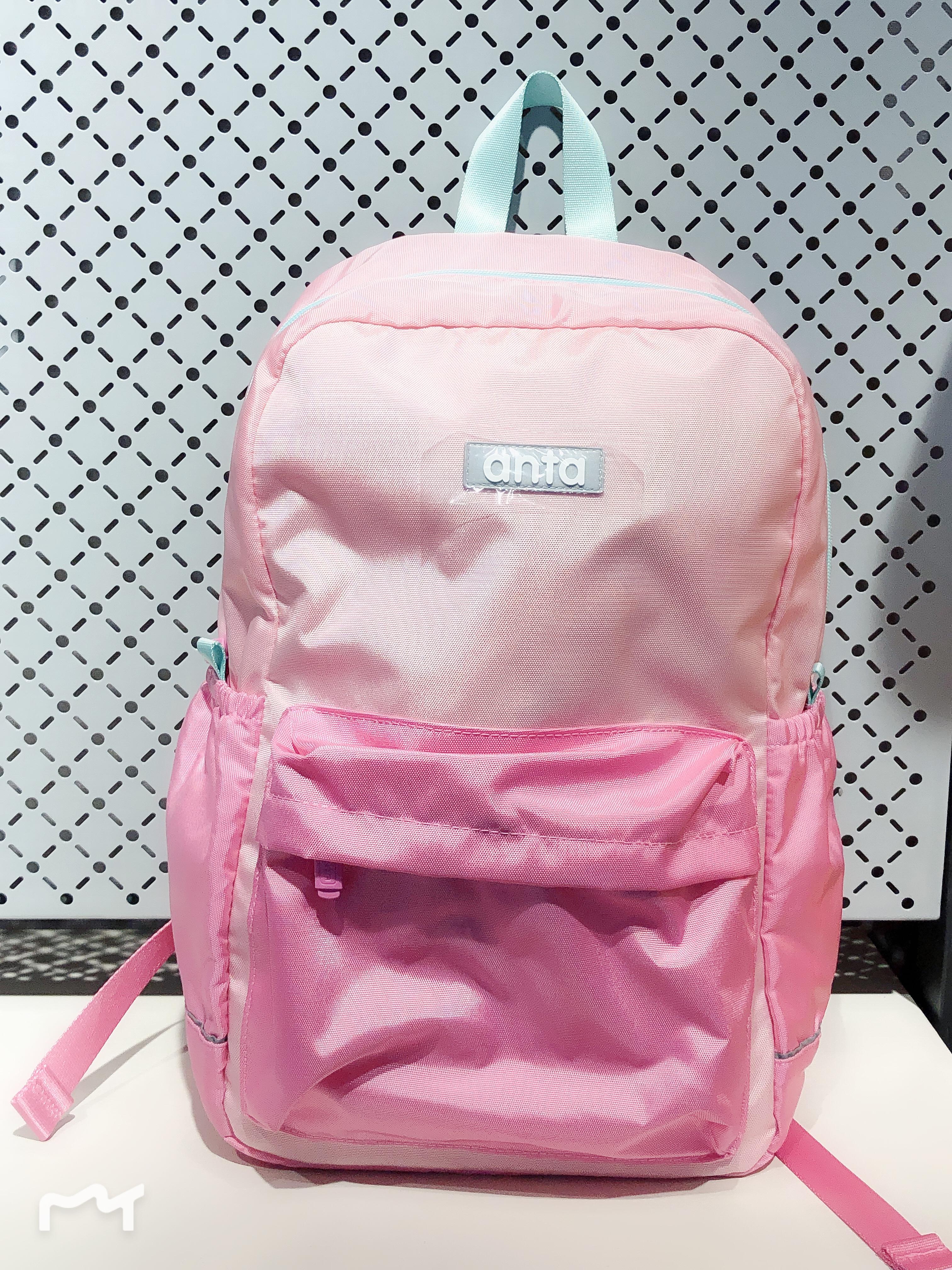 安踏 时尚潮流书包双肩包童粉红女款背包39918153-2
