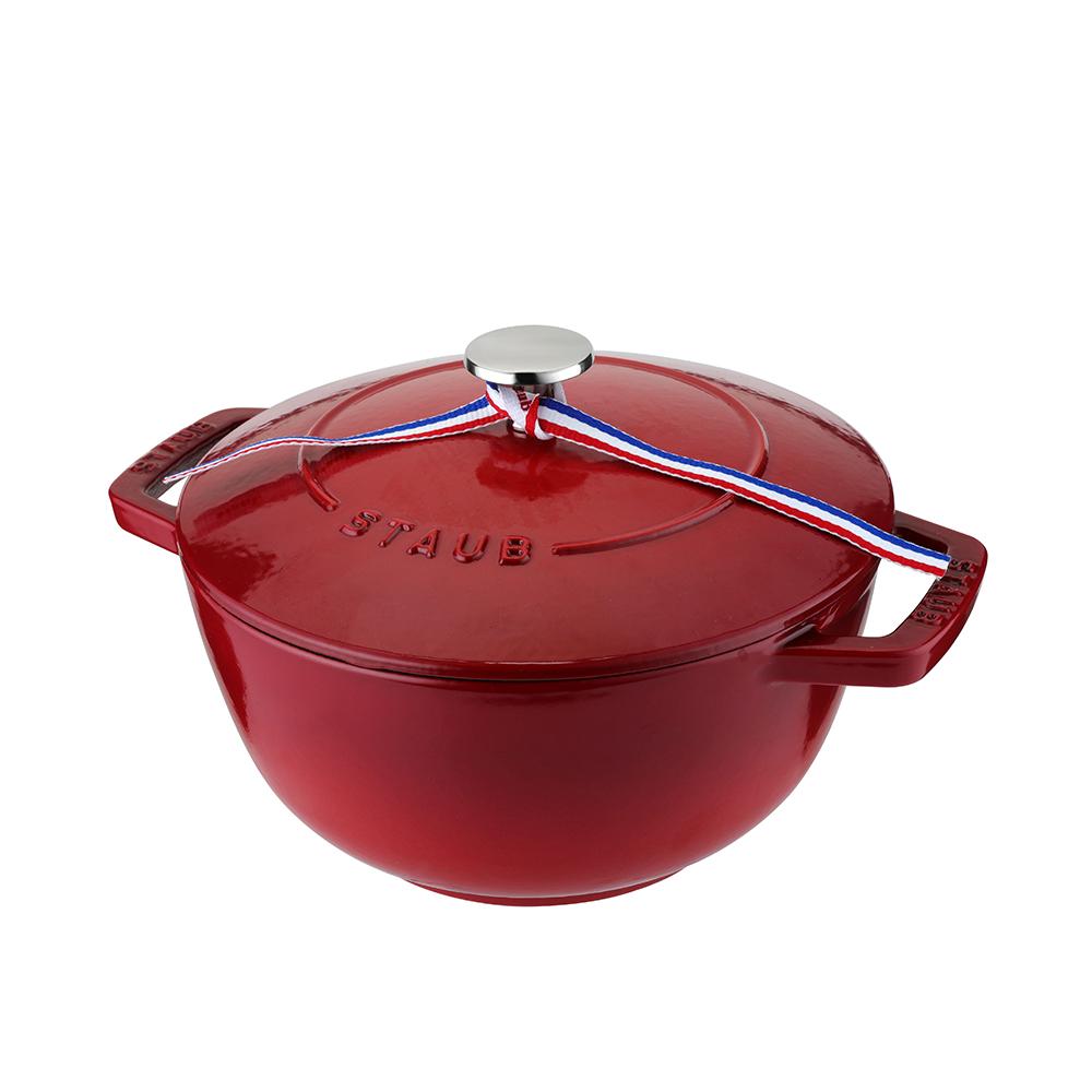 SA-P003 Staub圆形多功能锅 20厘米 樱桃红 法国进口轻奢家用多用匠心之选
