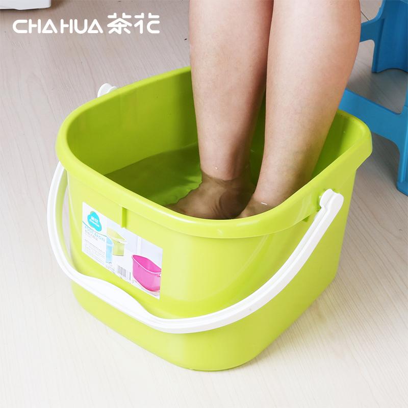 茶花(CHAHUA) 茶花舒益沐足盆舒适健康无毒安全,结实耐用(颜色随机发货)632.7g  0351