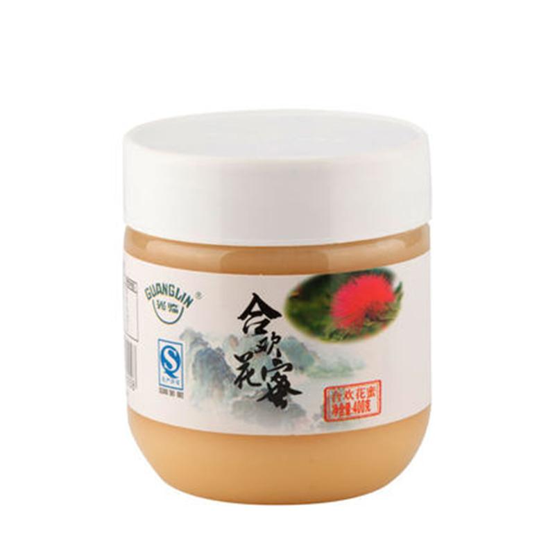 光临成熟合欢花蜜天然结晶土蜂蜜400g