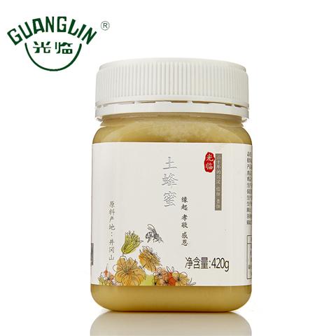 光临成熟蜜天然结晶土蜂蜜420g农家自产天然蜂蜜