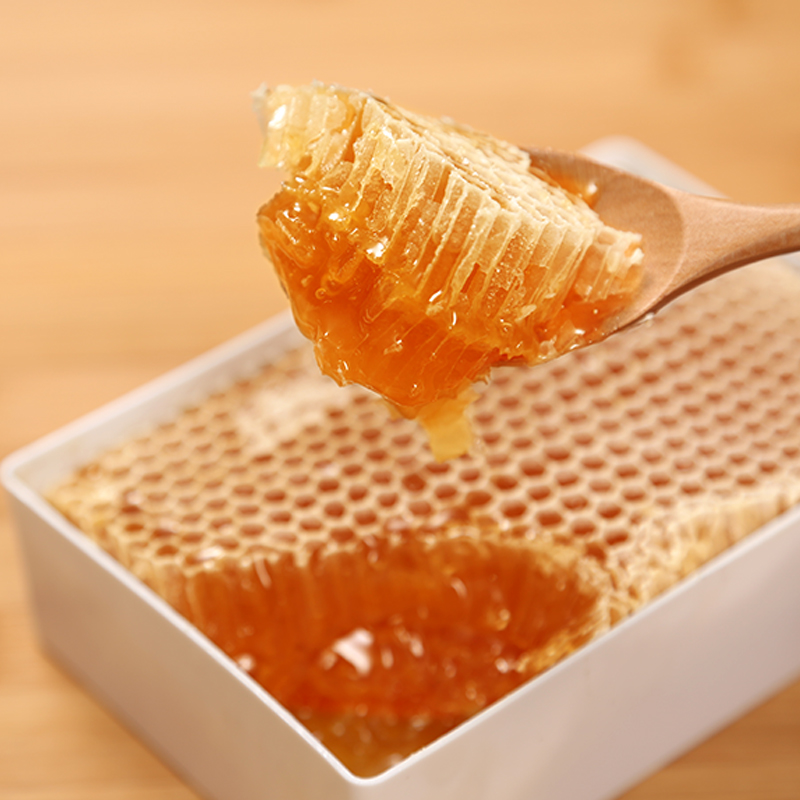 光临蜂巢蜜天然成熟蜂蜜500g农家自产嚼着吃