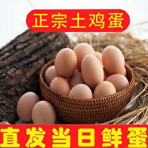 新鲜土鸡蛋  农家散养草鸡蛋 30枚 破损包赔