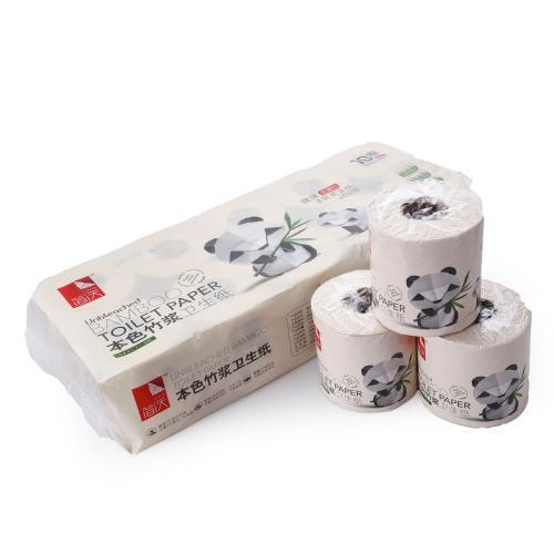 【中粮出品】简沃本色卷筒纸巾卫生纸10卷装(140g*10卷/提)