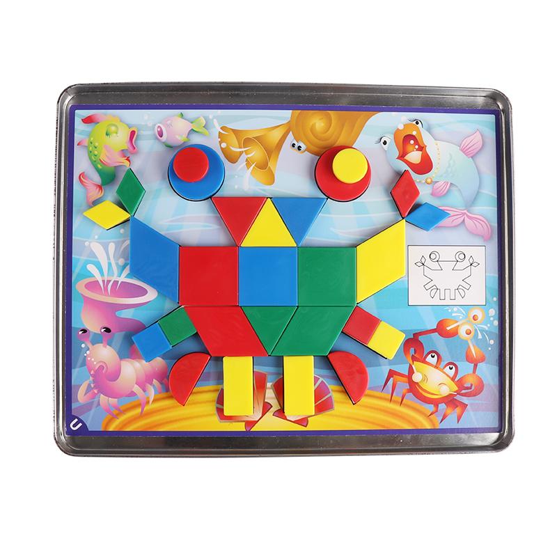 MightyMind海洋世界 美国磁力益智拼图几何闯关儿童逻辑思维训练益智玩具3-6-9岁进阶版海洋(5-9岁)
