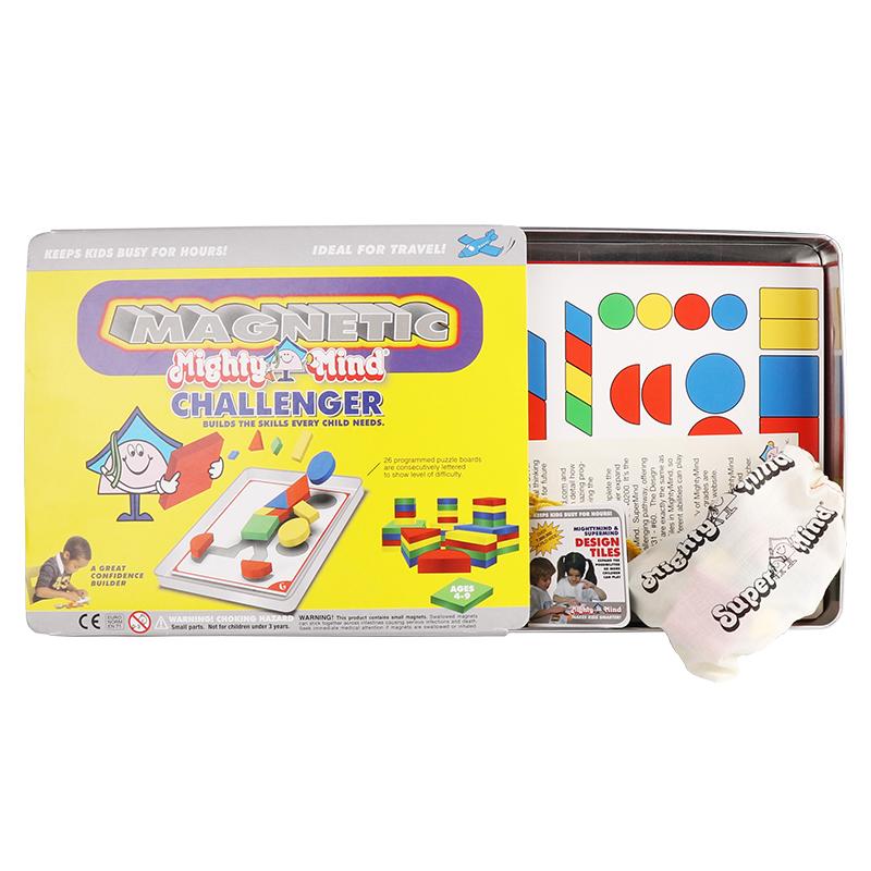 MightyMind挑战者 美国磁力益智拼图几何闯关儿童逻辑思维训练益智玩具3-6-9岁进阶版挑战者(4-9岁)