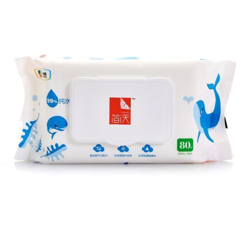 【中粮出品】简沃婴儿柔湿巾(手口可用)80片/包