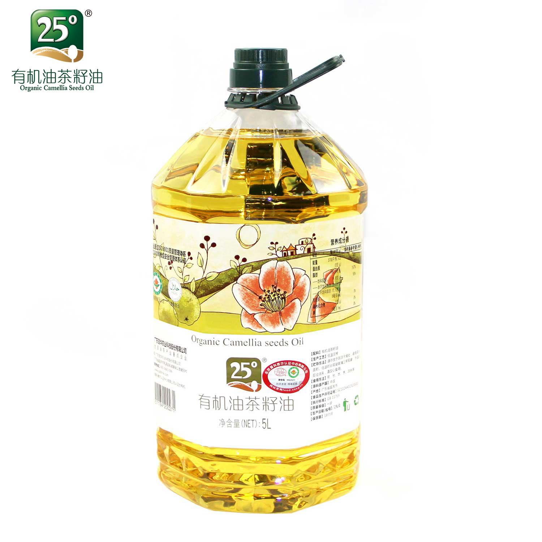 【送250ml一瓶】25°有机山茶油茶籽油5L(四国有机认证)