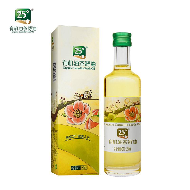 【送50ml一瓶】25°有机山茶油茶籽油250ml(四国有机认证)