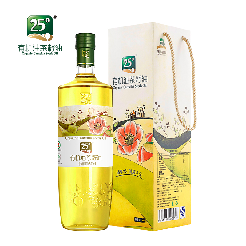 【送50ml一瓶】25°有机山茶油茶籽油500ml(四国有机认证)
