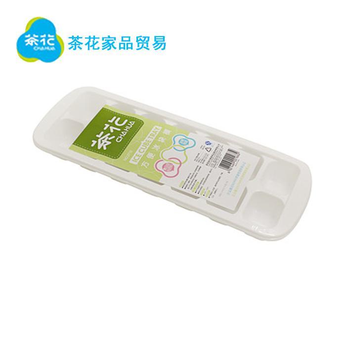 茶花(CHAHUA)茶花厨房冰箱用品塑料冰块模创意冰格制冰盒不带盖冰棍冰棒雪糕棒冰模具14格  两个装 2716*2