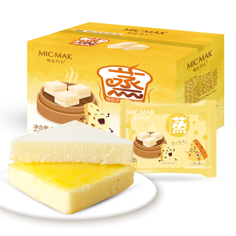 咪克玛卡海盐零食芝士蒸三明治600g/箱