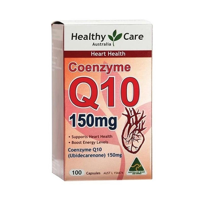 澳洲Healthy Care Q10辅酶胶囊150mg 100粒 保护心脏