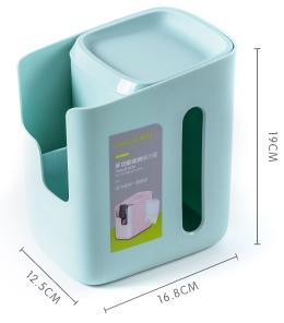 茶花(CHAHUA)茶花多功能收纳纸巾盒家用抽纸盒卷纸盒客厅茶几杂物收纳盒K02001