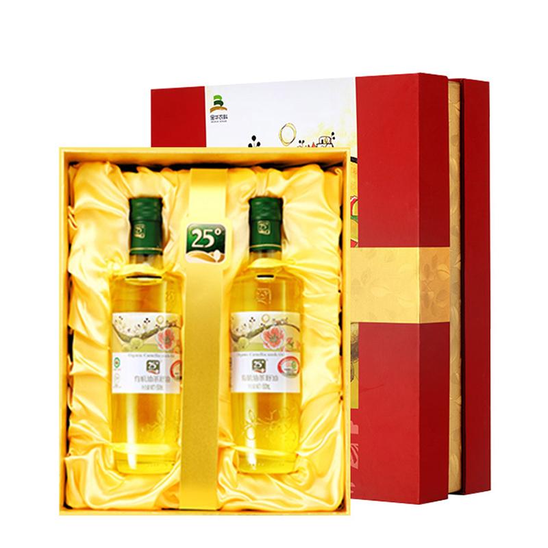 【送50ml两瓶】25°有机山茶油茶籽油福尊礼盒(四国有机认证)