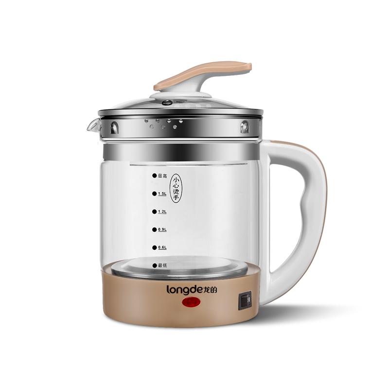 龙的(longde)LD-YS1810B 养生壶1.8L 高硼硅玻璃煮茶壶全自动煎药壶