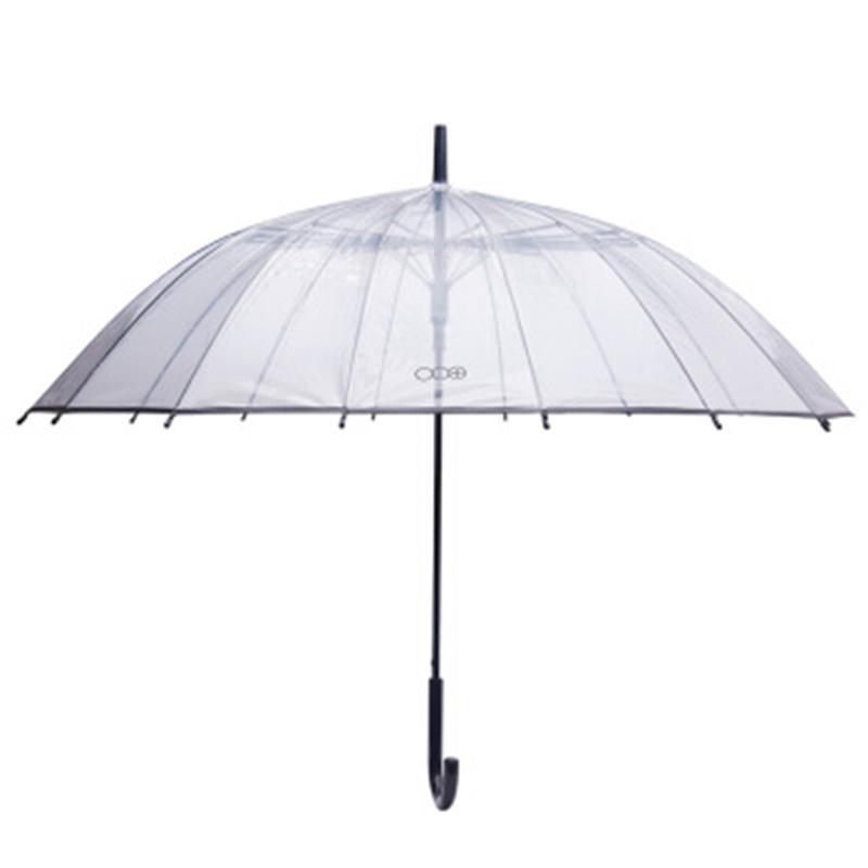 多样屋城市生活加厚透明长柄伞/SW遮阳伞雨伞