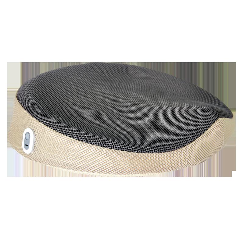 和正(Hezheng)按摩坐垫 汽车办公热敷按摩垫 家用振动美臀垫 记忆棉座垫舒适透气臀部减压 震动加热款