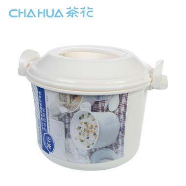 茶花(CHAHUA)茶花微波炉专用饭煲饭锅中号煮饭器蒸盒饭盒蒸米饭锅