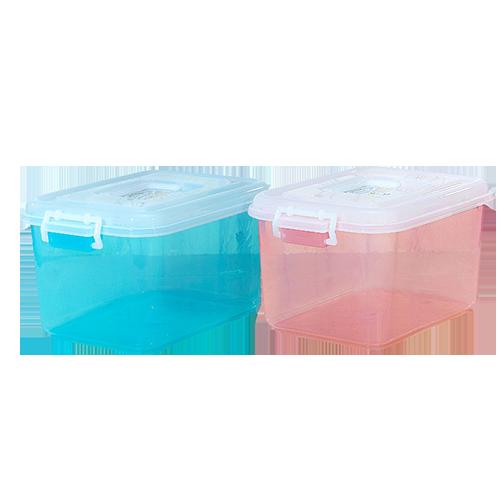茶花(CHAHUA)茶花塑料轻便透明加厚收纳箱8.5L整理箱小药箱内衣收纳盒手提储物箱