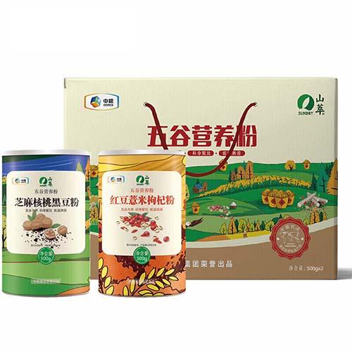 山萃五谷营养粉礼盒1000g