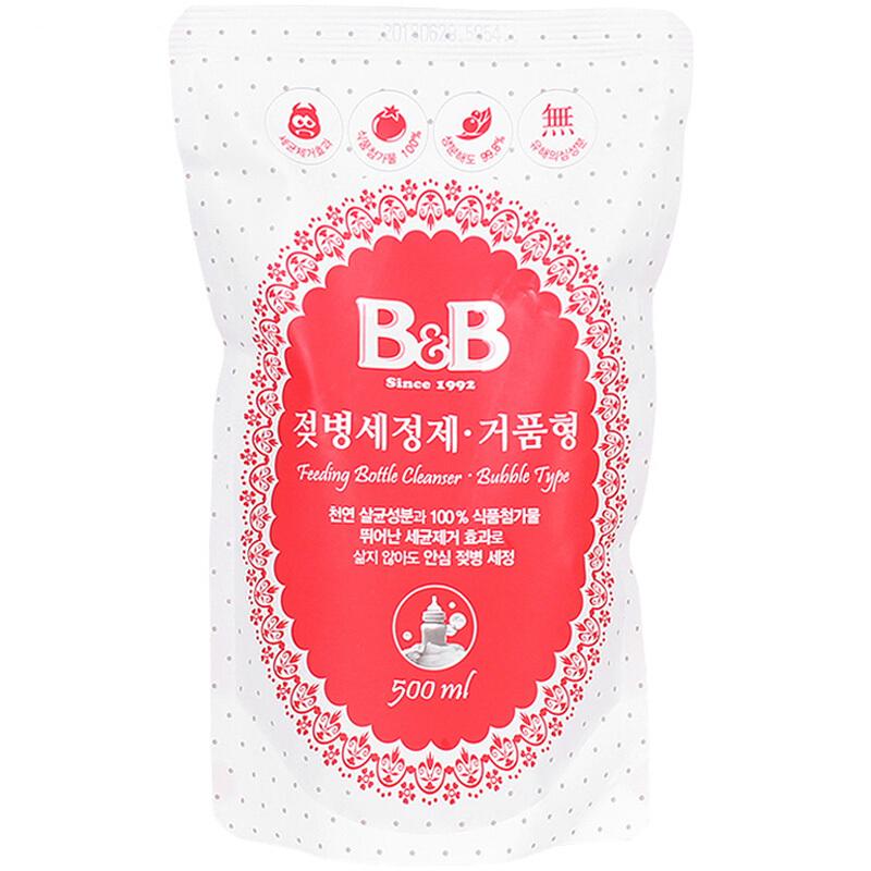 保宁韩国进口婴儿奶瓶清洁剂果蔬清洗剂泡沫型-补充装500ml