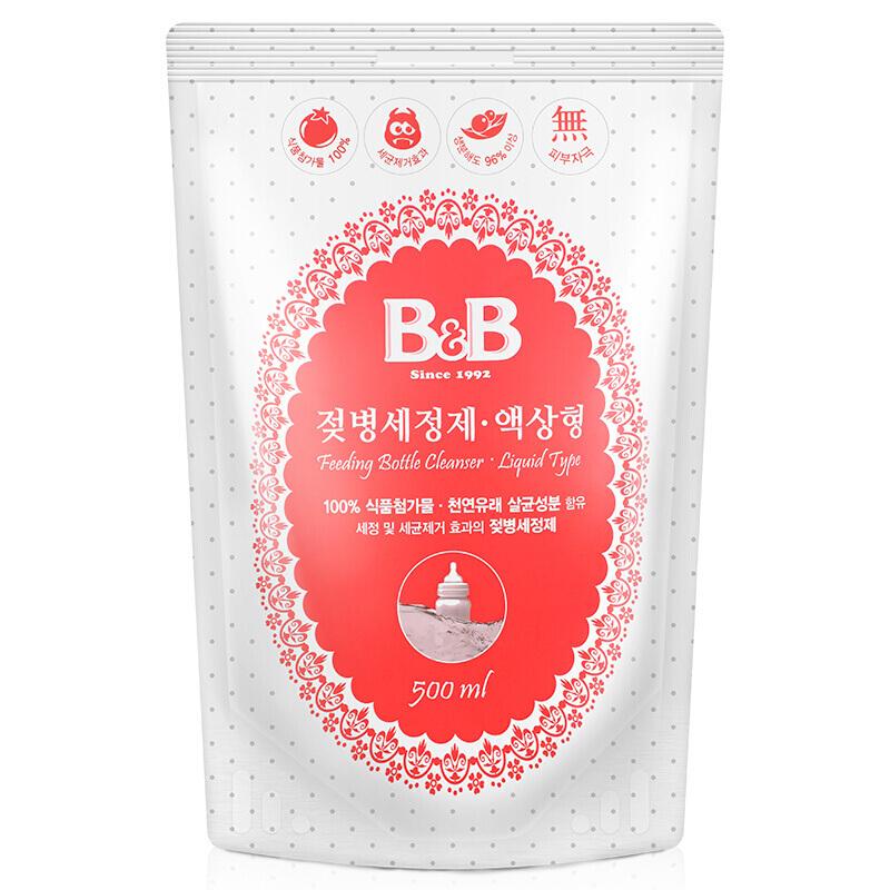 保宁韩国进口婴儿奶瓶清洁剂果蔬清洗剂液体型-补充装500ml