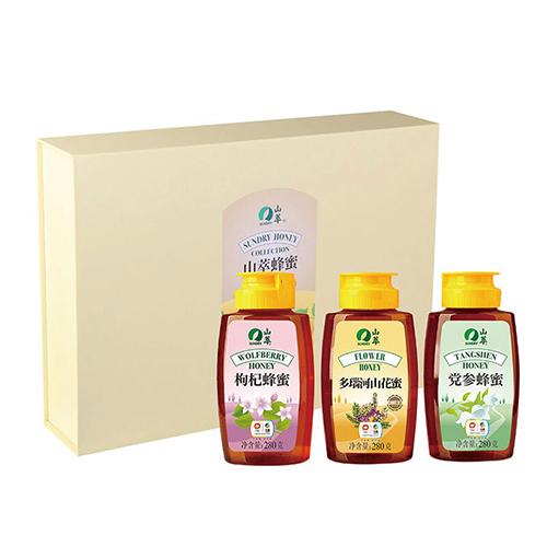 山萃吉祥三宝蜂蜜礼盒840g