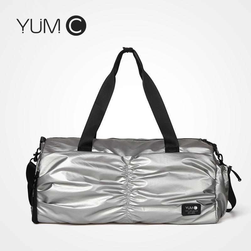 美国YUMC 健身包女休闲运动包干湿分离游泳包女训练瑜伽包轻便手提包女行李