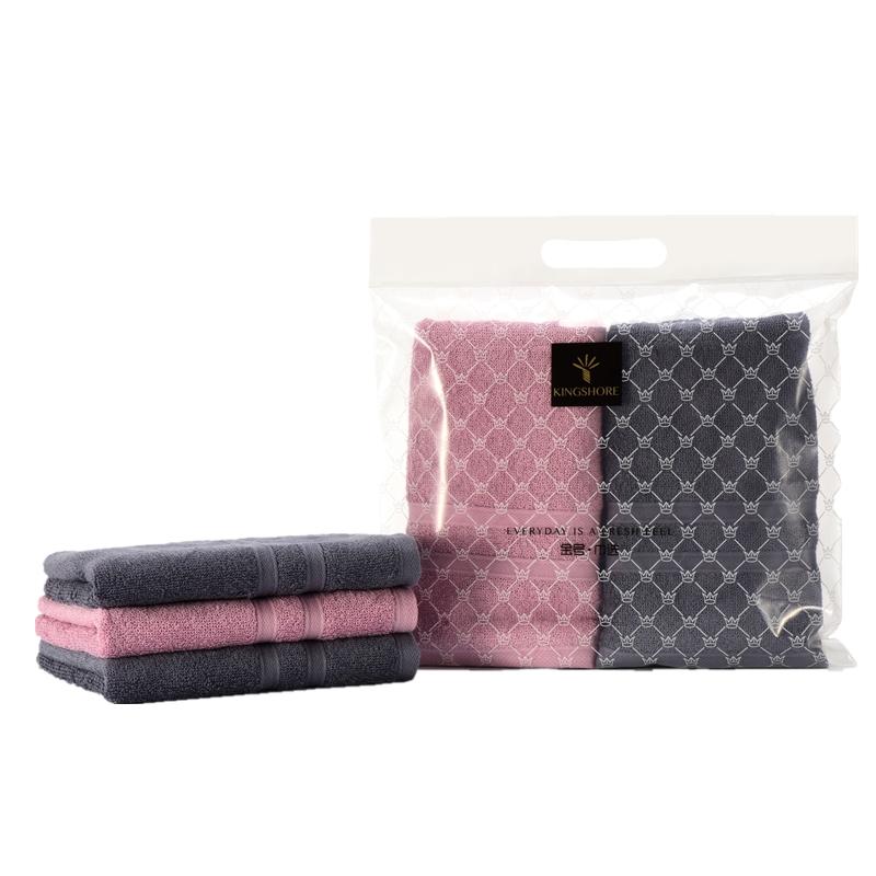 金号毛巾法兰克福婴幼儿A类标准系列-11 四条毛巾袋装 红色+棕色TJ-1881