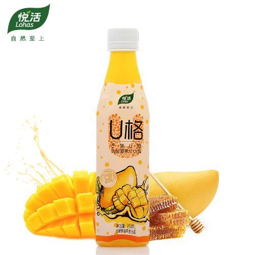 中粮悦活 芒果U格乳酸菌果汁饮品350ml