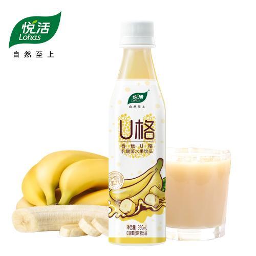 【中粮出品】悦活香蕉U格乳酸菌果汁饮品350ml