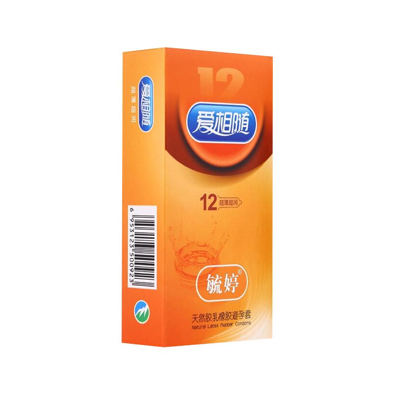 毓婷爱相随避孕套(超薄超润型)12只装