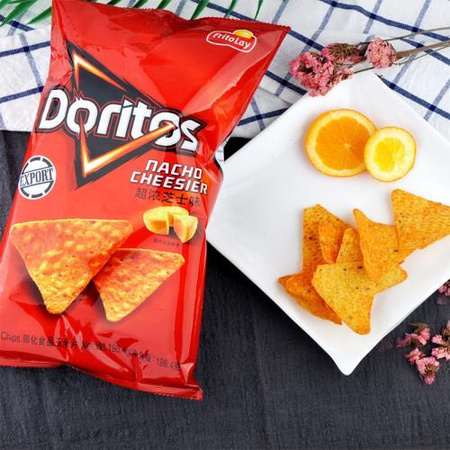 【中粮】Doritos多力多滋超浓芝士味玉米片 198.4g(台湾 包)
