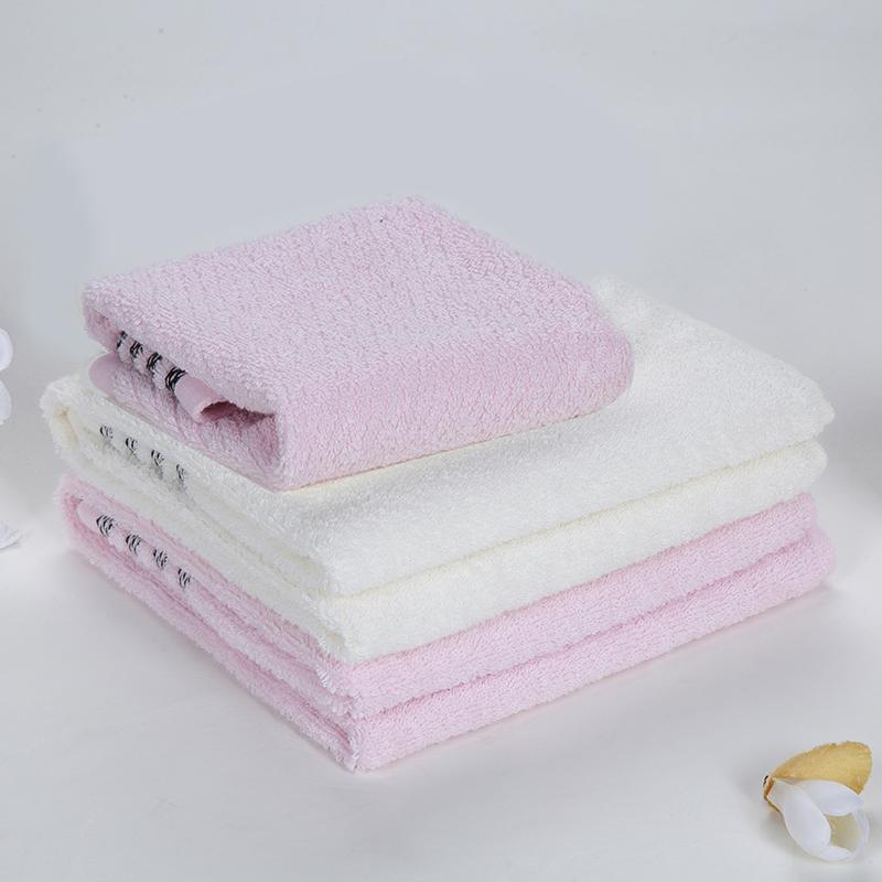 LOVO爱家纯棉毛巾方巾3条装系列二