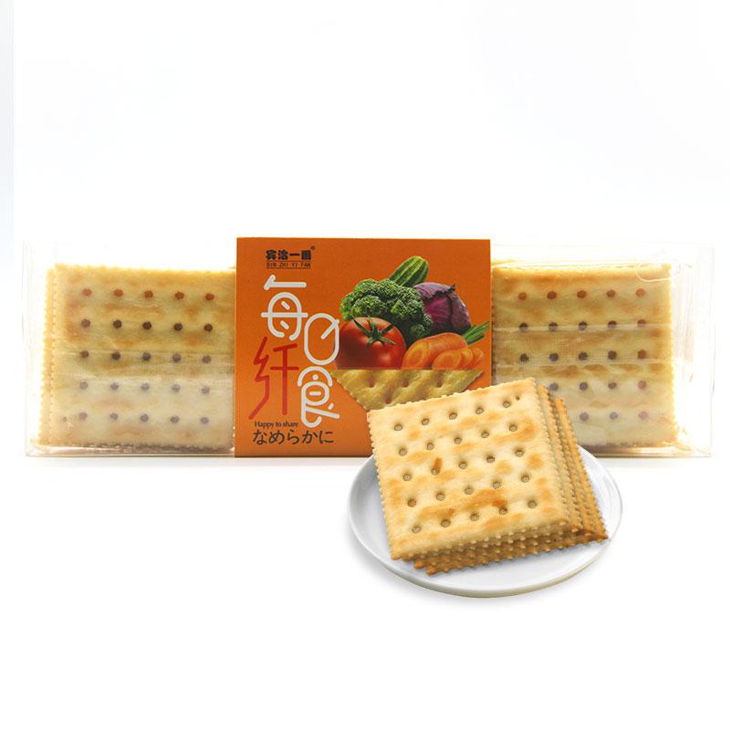 饼干 宾治一番 每日纤食营养健康苏打饼 果蔬克力架 两盒共600g