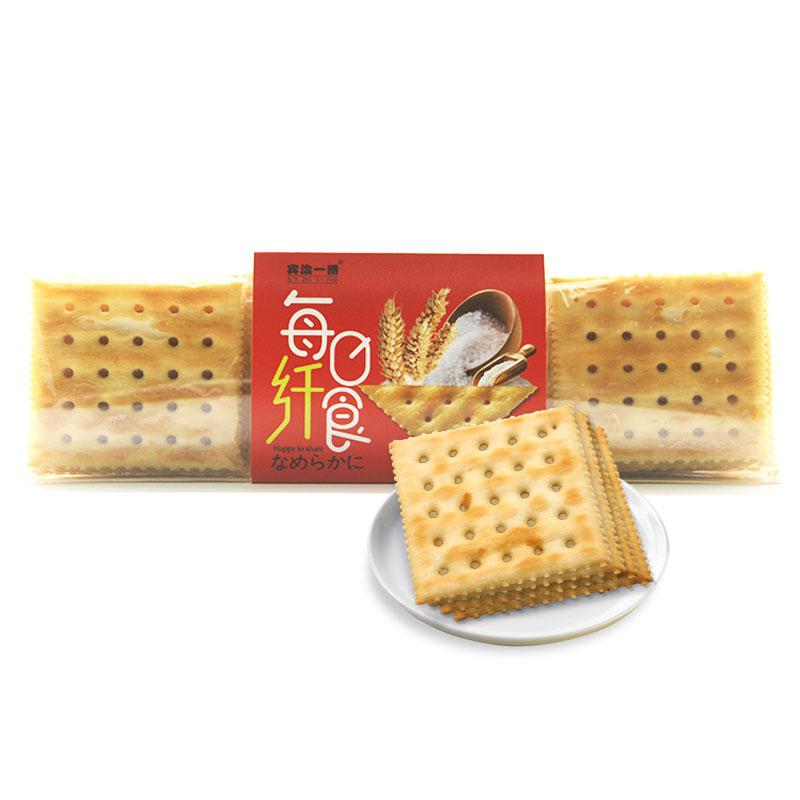 饼干 宾治一番 每日纤食香脆可口苏打饼 海盐克力架 两盒共600g
