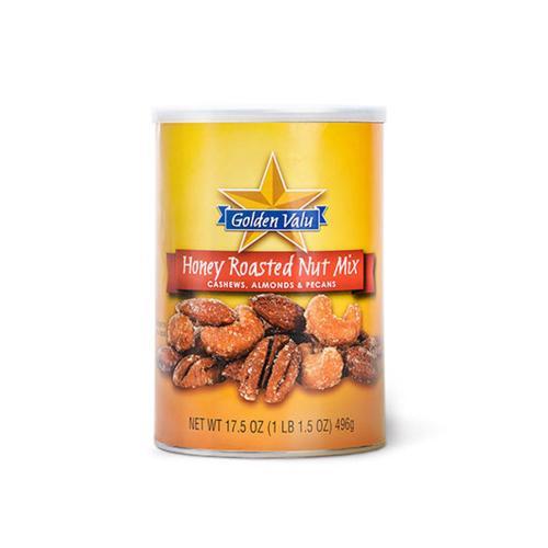【中粮】GOLDEN VALU蜂蜜香烤混合坚果496g(美国进口 罐)