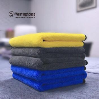 西屋洗车毛巾 双层双色 加厚珊瑚绒擦车布 吸水毛巾
