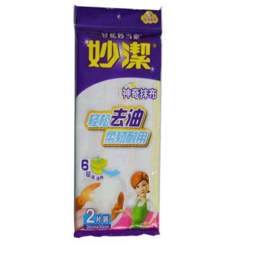 【中粮】妙洁 6层疏油网抹布(2片装)